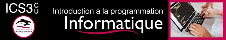 ICS3C/3U Introduction à la programmation informatique